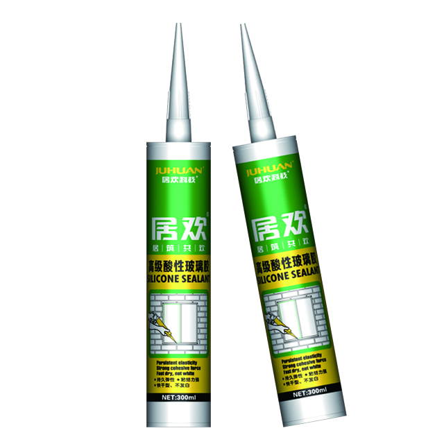 JUHUAN Neutral White Black Fast Drying Filling Gap Silicone Sealant