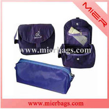 portable three-piece purple make up bag, travel bags, toileter packet,cosmetic pack