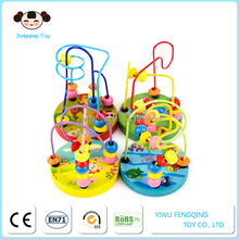 FQ brand 2017 hot sell wholesale toddlers wooden Other educational toys type wooden string beads toy