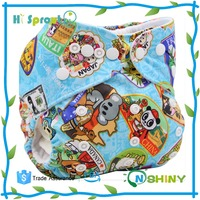 Free sample bamboo baby printed cloth diaper wholesale