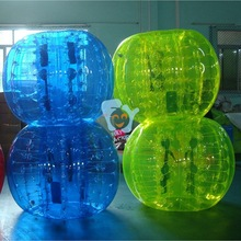 popular blue round grass sports toy inflatable human balls to play soccer bubble ball