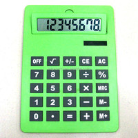 8 digits dual power adjustable display A4 calculator