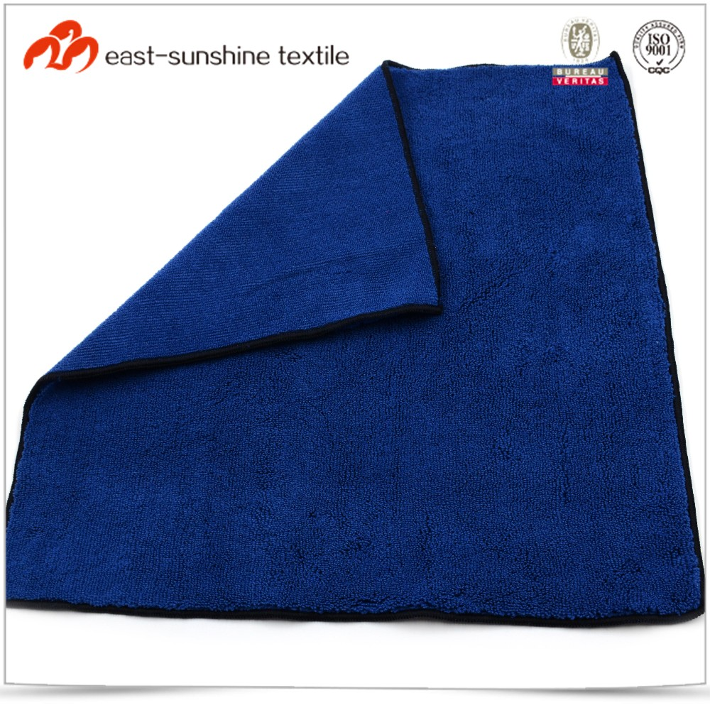Promotional pure color seam edge microfiber terry cloth