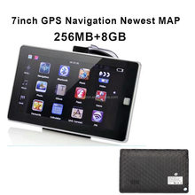 Built in 256Mb and 8GB MP3 MP4 Ebook Gamer Free Truck Car 3D Map 7inch Car Wince GPS Navigation