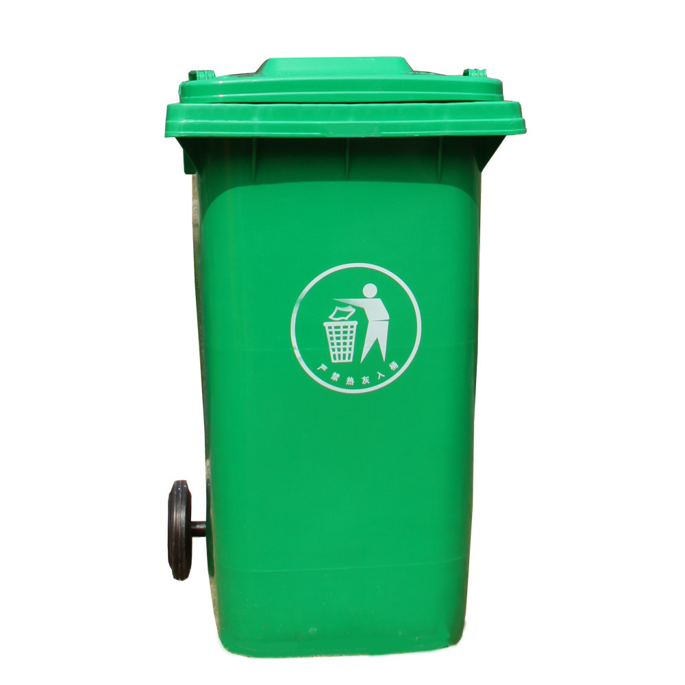 Street large size plastic garbage trash bin for outdoor