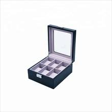 6 grids Customized luxury wooden wrist watch box with High grade cotton flannel pillow inside