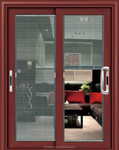 double glazing sliding door with built-in blind