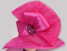wholesale black women sinamay cheap church hats for sale