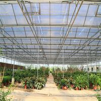 10 Years high quality Clear Plastic Hollow Polycarbonate Sheet with UV Protection for Greenhouses