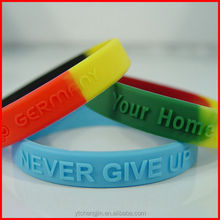 Chinese best seller positive silicone energy bracelets in iridescent