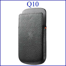 For BlackBerry Q10 pouch leather case high quality