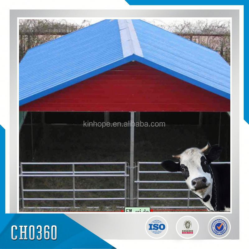 Galvanized Anti-rust Prfefabricated Cattle Barn