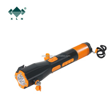 car emergency kit,car emergency tool of seat belt cutter hammer with siren blinking and FM/AM Radio