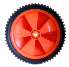 7 inch lightweight plastic wheels for garden tool cart, trash bins