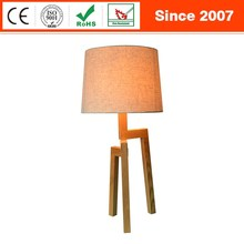 Welcomed bedroom bedside living room solid wood tripod table lamp
