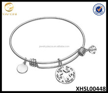 Rhodium Plated Bracelet 925 Sterling Silver Star Shoot for the moon Jewelry