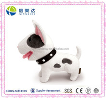 Cute Lifelike Bull Terrier Dog Plush Toy