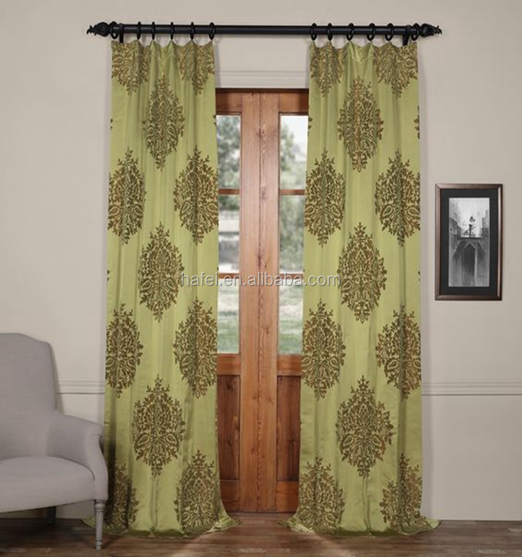 new curtain styles classic design jacquard blackout door curtain