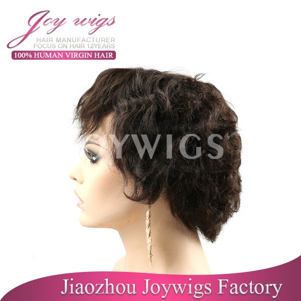 Joywigs 100% human hair halle berry short style virgin brazilian hair full lace wig
