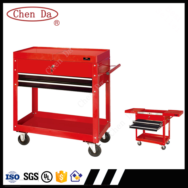 Chenda good quality 3 drawers tool trolley with handle