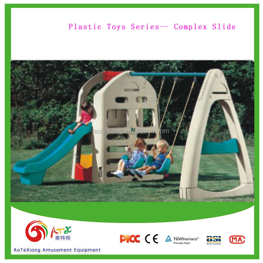 Complex Plastic Slide and Swing
