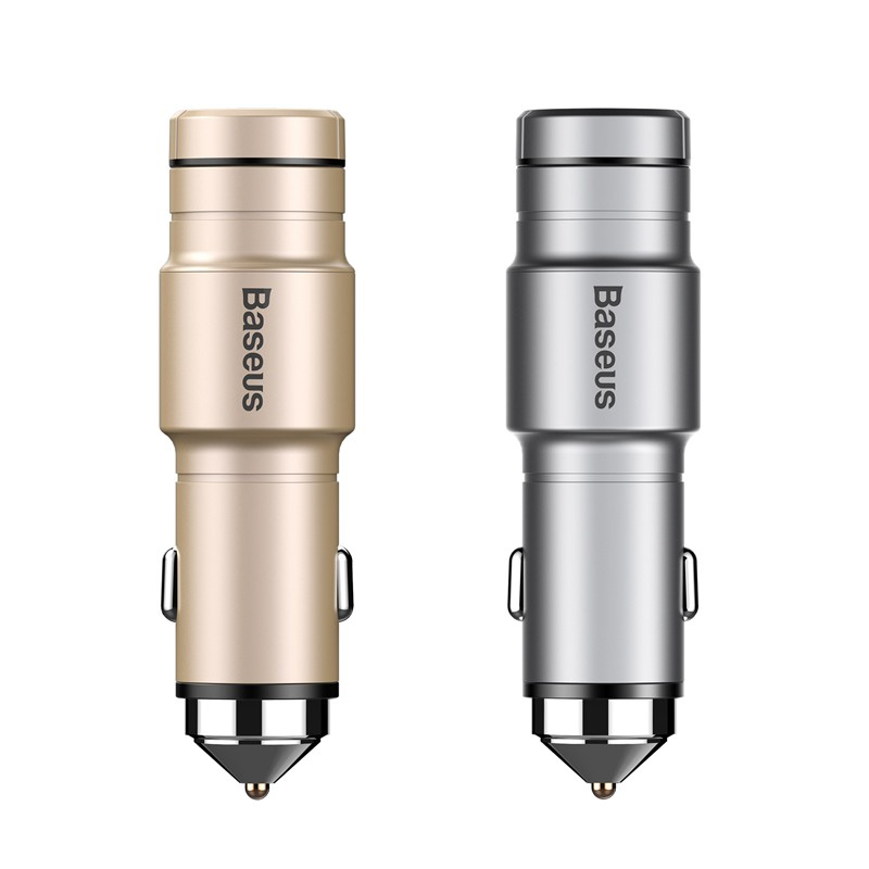 Original Baseus Bluetooth Earphone Headphone Intelligent Car Charger 2 in 1 Wireless Headset USB Car Phone Charger