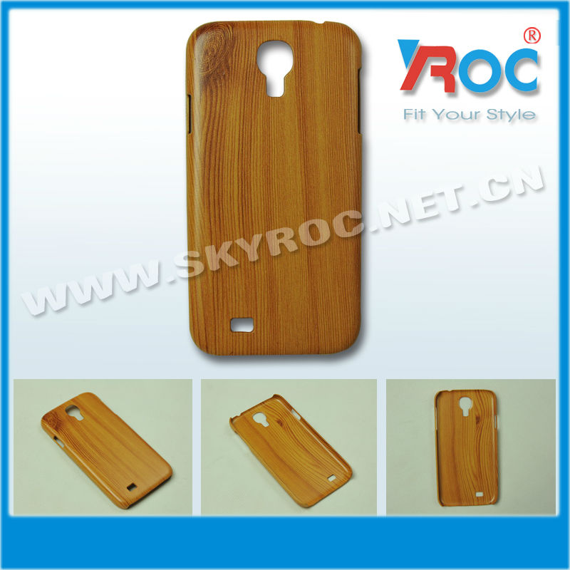Hard Back Cover Case with Wood Grain for samsung galaxy s4 19500 case