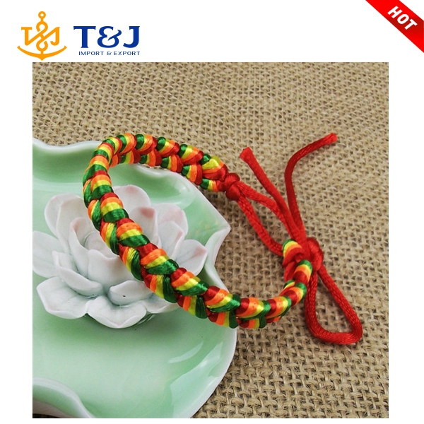 New Arrival Lucky knot hand-woven multicolored rope string bracelet
