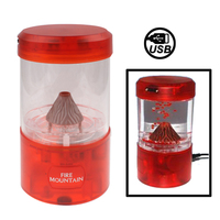 In stock Home decoration items Mini USB desktop digital Red volcano box
