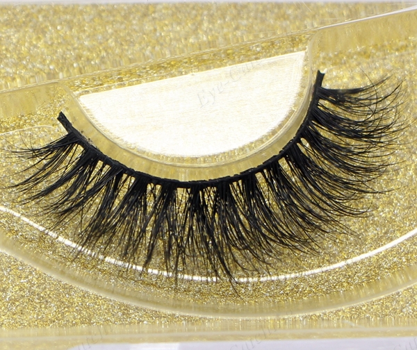 Milkyway fashion style 3D D004 premium handmade mink strip lash,mink fur lashes