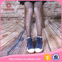 Fashion japanese style girls colored print tights with floral pattern