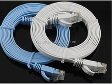 ex stock CAT6 molded RJ45 ultra slim flat Ethernet Patch Network Lan Cable