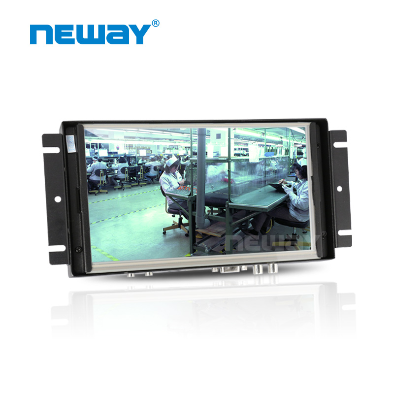 "With resistive touch screen 8"" widescreen LED backlight lcd open frame monitor"