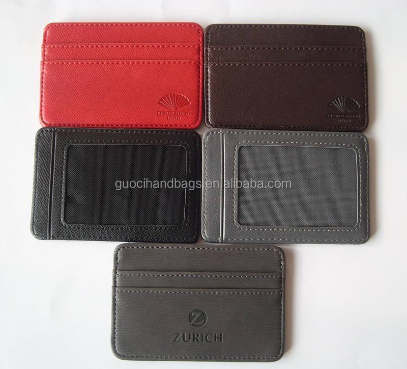 Promotional men id leather card holder PU wallet