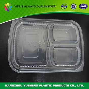 High quality Takeaway disposable BOPS/PET/PS plastic food container