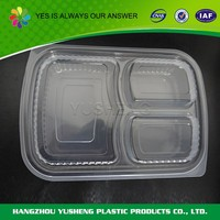 Takeaway PET disposable fast plastic food container
