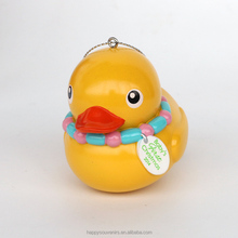 Yellow duck resin hanging ornament for return gifts/baby shower gifts india