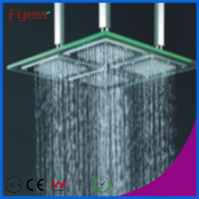 Fyeer LED glass square shower head color changed shower faucet,500*500mm