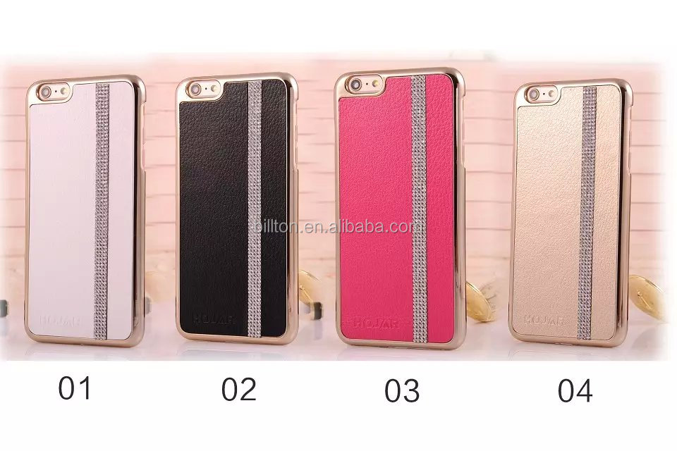luxury diamond mobile phone case for iphone 6 3d phone new arrival leather case for iphone 6 plus case