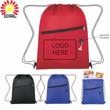 Personalized Promotional Cheap Gift 210D Drawstring Bags With Logo