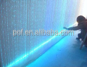 0.75mm sparkle fiber optic light fiber curtain
