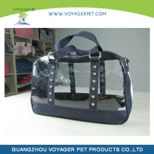 Lovoyager New Arrival Double Foldable Plastic Pet Carrier/Dog Carrier/Transparant Cat Carrier