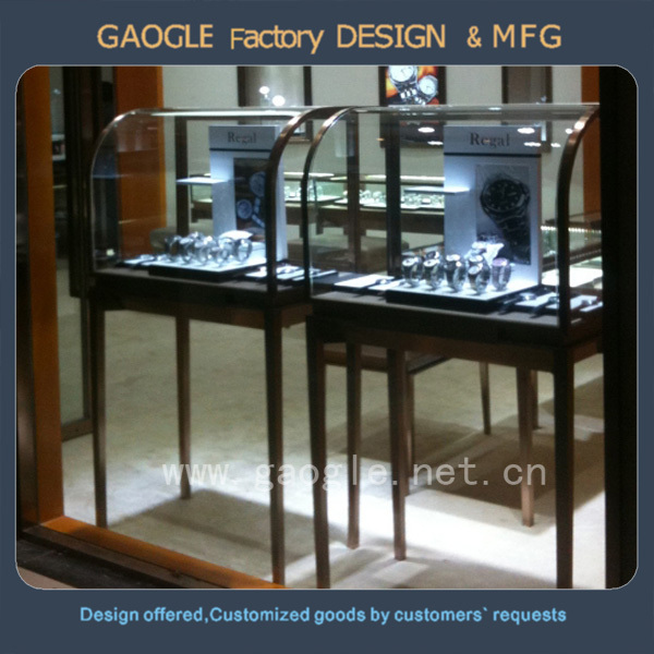 High end quality countertop rotating jewelry display stand with led lights