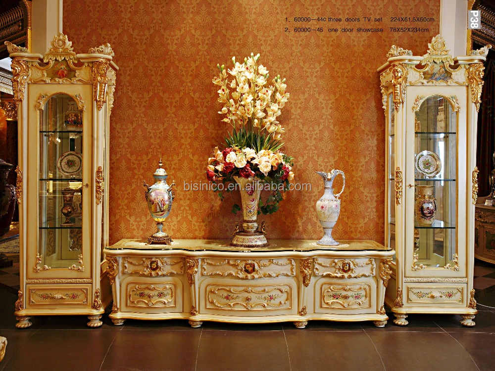 Bisini French Rococo Bedroom Furniture Full Length Mirror