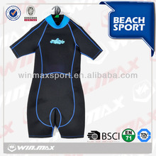 economic surf neoprene fabric shorty kids surf wetsuits