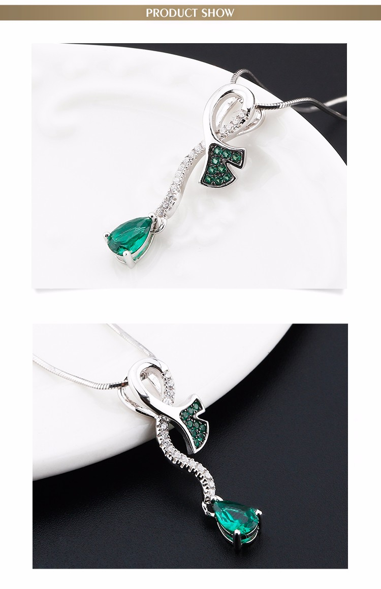 Latest design jewellery AAA zircon silver jewelry necklace fashion necklace