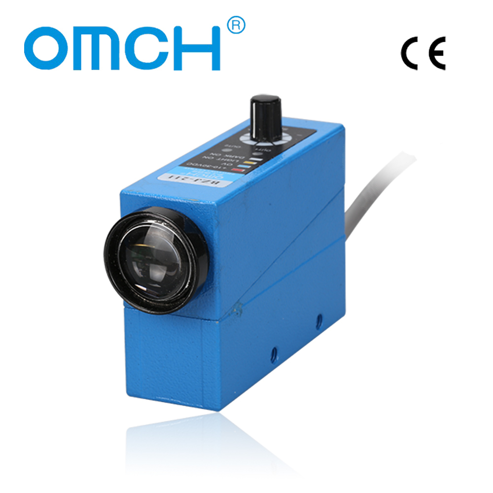 OMCH CE BZJ-211 NPN 10mm 10-30VDC Optical Infrared Photocell Color Mark Code Sensor Switches