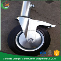 6 inch PP with brake swivel caster adjustable scaffolding wheel