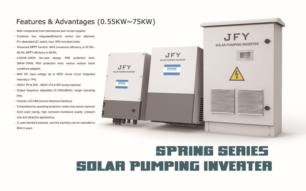 MPPT inverters solar water pump system dc to 3 phase ac pump power inverter