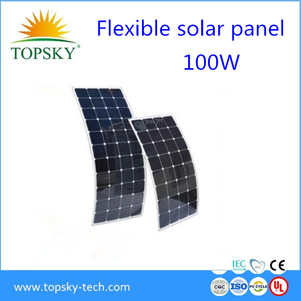 Sun power solar cell flexible solar panels 100w from China Manufacturers bendable photovoltaic module